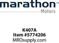 Marathon K407A Model #: 056T11F15527 HP: 1 RPM: 1200 Frame: 56C Enclosure: TEFC Phase: 3 Voltage: 230/460 HZ: 60