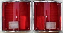 - 73-87 CHEVY GMC TRUCK TAIL LIGHT SET W/Chrome Trim