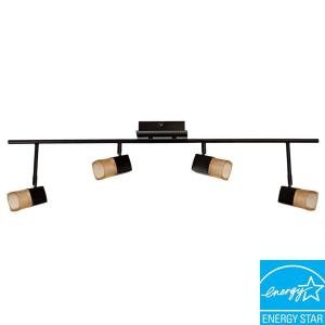 Hampton Bay Vega 4-Light Oil Rubbed Bronze LED Track Light Bronze Right Track