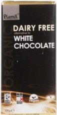 Plamil - Organic Dairy Free Alternative to White Chocolate - 100g