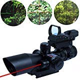 THEA Tactical 2.5-10X40 Rifle Scope w/Red Laser & Green/Red Dot
