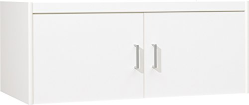 CS Schmalmöbel 12/129 Aufsatz-Schrank, Holz, weiß, 106 x 54 x 43 cm
