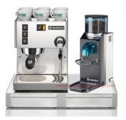 Rancilio Silvia and Rocky Bar Combo with Base - Doserless (20th Anniversary Edition - Black)