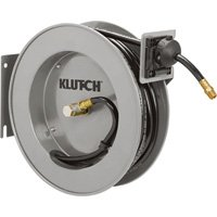 Klutch Auto Rewind Air Hose Reel - With 3/8in. x 50ft. Hybrid Polymer Hose, Max. 300 PSI