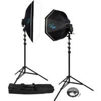 Two Light Kit - Rapid Box 2-Light Kit w/Beauty Dish Deflector Plate & Carry Case