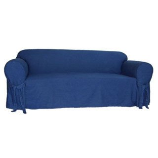 Blue Denim One Piece Sofa Slipcover
