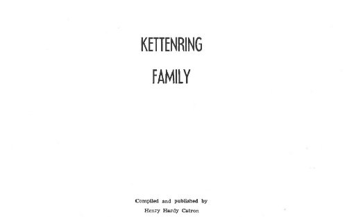 Kettenring Family in America