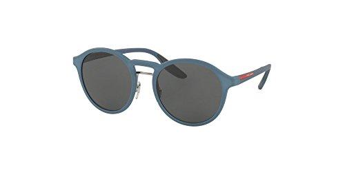 Prada Linea Rossa Men's PS 01SS Sunglasses Opal Avio Rubber / Grey - 20 Sunglasses