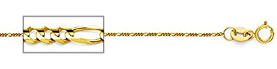 1.1mm Figaro//Curb 18k Gold Plated Chain