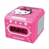 HELLO KITTY KT2053 AM/FM Stereo Alarm Clock Radio with Top Loading CD Player by Hello Kitty