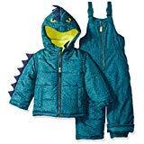 Carter's Boys' Little Character Snowsuit, Green Dinosaur, 7