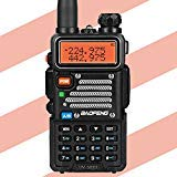Baofeng X Radioddity UV-5RX3 Tri-Band Radio VHF, 1.25M, UHF Amateur Handheld ham Two Way Radio Walkie Talkie with Earpiece and Charger