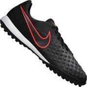 NIKE Kids Jr Magistax Opus II Tf Black/Black Total Crimson Turf Soccer Shoe 13.5 Kids US