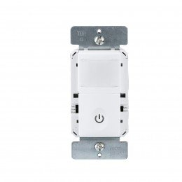 Enerlites #HMOS-W White 500 watt Incandescent Commercial Grade PIR Wall Switch Occupancy Sensor, 180° coverage, 60Hz, 5A Resistive, 500VA Ballast, 1/8HP Motor, Auto On/Auto Off, 120 volt