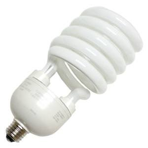 TCP 28968277 CFL Spring Lamp - 300 Watt Equivalent (only 68w used!) Soft White (2700K) Medium/Standard Base (e26) Spiral Light Bulb - (300w Compact)