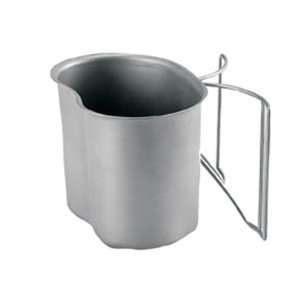 G.I. Type Stainless Steel Canteen Cup With Butterfly Handle - Life Time Warranty by Bencore