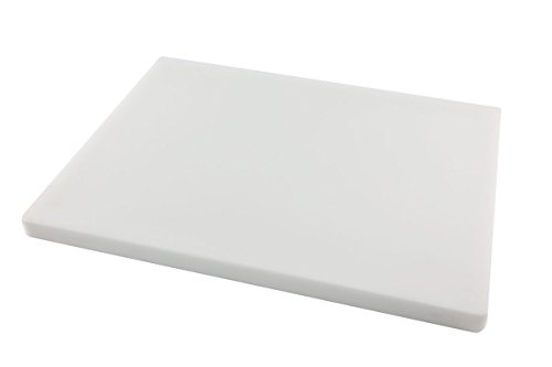 Restaurant Thick White Plastic Cutting Board, NSF, FDA Approved, 18 x 12 x 1 Inch ()