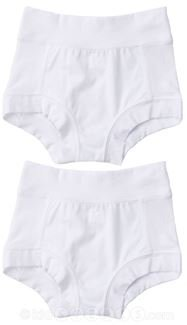 Oops! Undies Waterproof Bamboo Underwear White Training Pants 2 Pack (Ages 5-6 Fits 19
