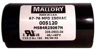 ALLISTER Garage Door Openers Capacitor 67-76 MFD 005120 by Linear