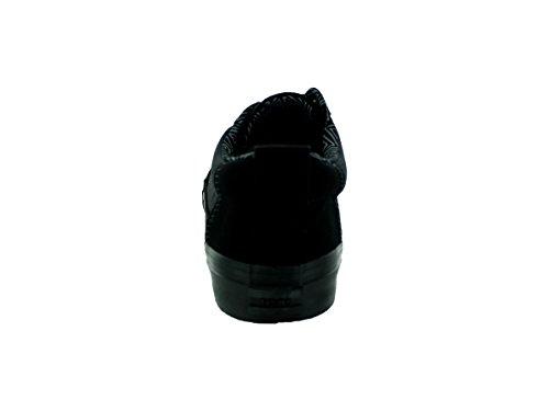 Sergé De Coton Bleu Marine Sergé Valdez Chaussure Décontractée Noire / Noire En Sergé De Coton