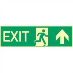 EXT Cartel: Exit hacia arriba High Ligh T160 aluminio 0,4 mm ...