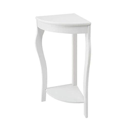 BH Mesas auxiliares para sofa, Estante de Almacenamiento para refrigerio/Extremo/sofa/Consola para Cama Sofa Comedor Sala de Estar, Comedor, Dormitorio (Color: Blanco)