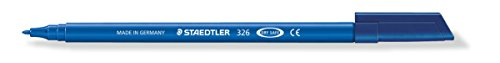 Staedtler 326-30 Noris Club Felt tip pens, Approx. 1.0 mm, Washable, 10 Items in Cardboard Pack, Light Blue