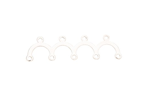 Wave 5x4 Silver Plated Link 32x0.5mm sold per pack of 10 (4pack bundle), SAVE $3
