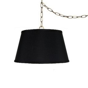 Upgradelights 19 Inch Drum Portable Swag Lampshade (Black)