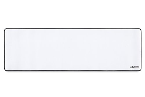 Glorious Extended White Gaming Mouse Pad/Mat - Long Cloth Mousepad, Stitched Edges | 36x11