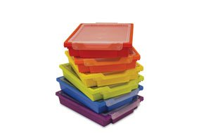 Charmant Gratnells Shallow Trays   Set Of Six Plastic Storage Boxes With Lids