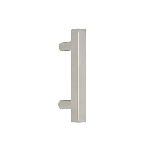 Probrico Cabinet Handles-Pack of 50 Satin Nickel 2-1/2inch (64mm) Hole Centers Square T Bar Kitchen Cabinet Handles Drawer Pulls for Kitchen Furniture Hardware ()