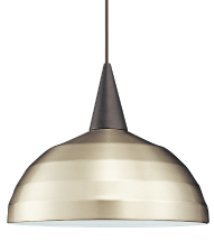 WAC Lighting PLD-F4-404BN/BK Felis - One Light Line Voltage Pendant with Canopy Mount, Shade Options: Brushed Nickel, Pendant Base Options: Round Dome Style Canopy (Felis Mini Pendant)
