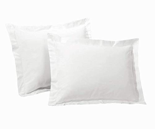 SRP Linen 600-Thread-Count 100% Egyptian Cotton German/Extra Large Sequre (31 x 31 Inches) Super Soft Pillow Cases White Solid