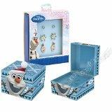 Mr. Christmas Gold Label Disney Frozen Olaf Musical Keepsake Box Plays Includes Stud Earrings