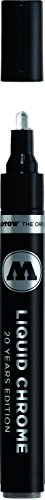 Paint Pendants Finish - Molotow ONE4ALL Acrylic Paint Pump Marker, 4mm, Liquid Chrome, 1 Each (703.103)