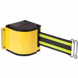 Lavi Industries 50-3016M-YL-18-BN Quick Mount Safety Barricade44; 18 ft. Retractable Belt Extension - Yellow