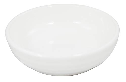 (Pack of 12) Super White Round Ribbed Porcelain Sauce Dishes OT-2930