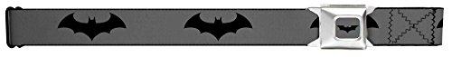 Retro Bat Logo Gray/black Seatbelt Belt