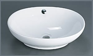 Oval Ceramic Vessel Bathroom Sink with Overflow (Oval Ceramic Ronbow)