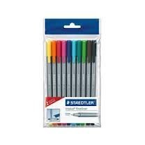 Staedtler Triplus Fineliner 334 Assorted Colours Pack of 8 + 2 FREE