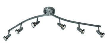Mirage - 6-Light Spotlight Semi-Flush Mount - Brushed Steel Finish