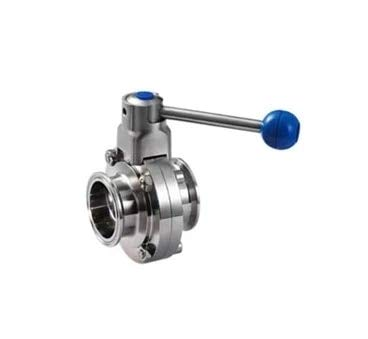 Maslin 1'' 25mm Sanitary Stainless Steel Tri Clamp Butterfly Valve - Pull Trigger - (Thread Specification: 3/4'')