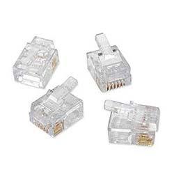 Platinum Tools 100026C EZ-RJ12/11 Connectors, Clamshell, 50-Pieces
