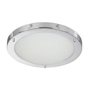 Searchlight 10632CC 1 Light Low Energy IP44 2D 16W Mini Flush Bathroom Ceiling Light