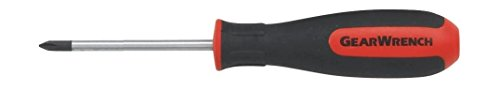 GEARWRENCH 80045 #2x4-Inch with Hex Bolster - Pozi Dual Material Screwdriver