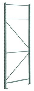 120''H x 42''D 21860 lb Capacity Powder Coat Boltless Pallet Rack Upright by STEEL KING INDUSTRIES INC. (Image #1)