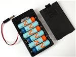 Cylindrical Battery Contacts, Clips, Holders Springs 6Xaa Battery Holder W/ 5.5Mm/2.1mm Plug