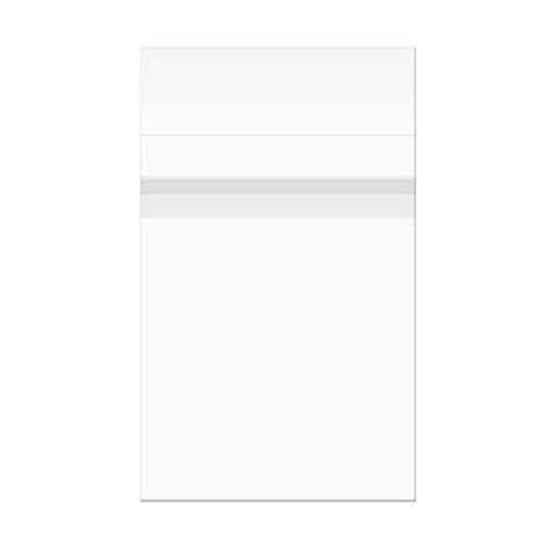 """ClearBags 17-7/16"""" x 22-1/4"""" Crystal Clear, Protective Polypropylene Storage Bags, with Flap, 100 Bags"""