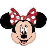 MAD ABOUT MINNIE MOUSE Head XL BIRTHDAY PARTY Balloon Decorations Supplies by -